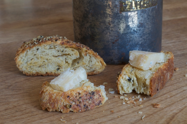 Black Pepper & Cheese Biscotti - A Pat & A Pinch