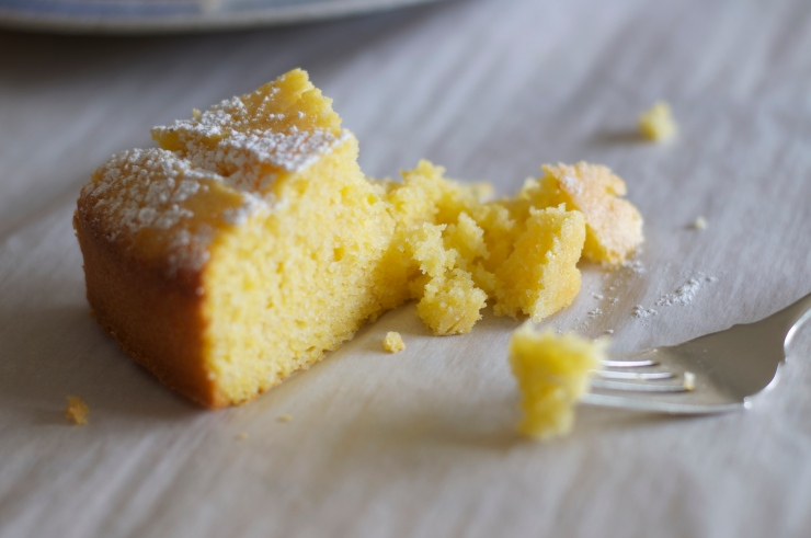 Lemon Cornmeal Cake - A Pat & A Pinch