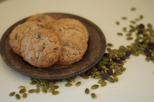 Pumpkin Seed and Chocolate Chip Cookies