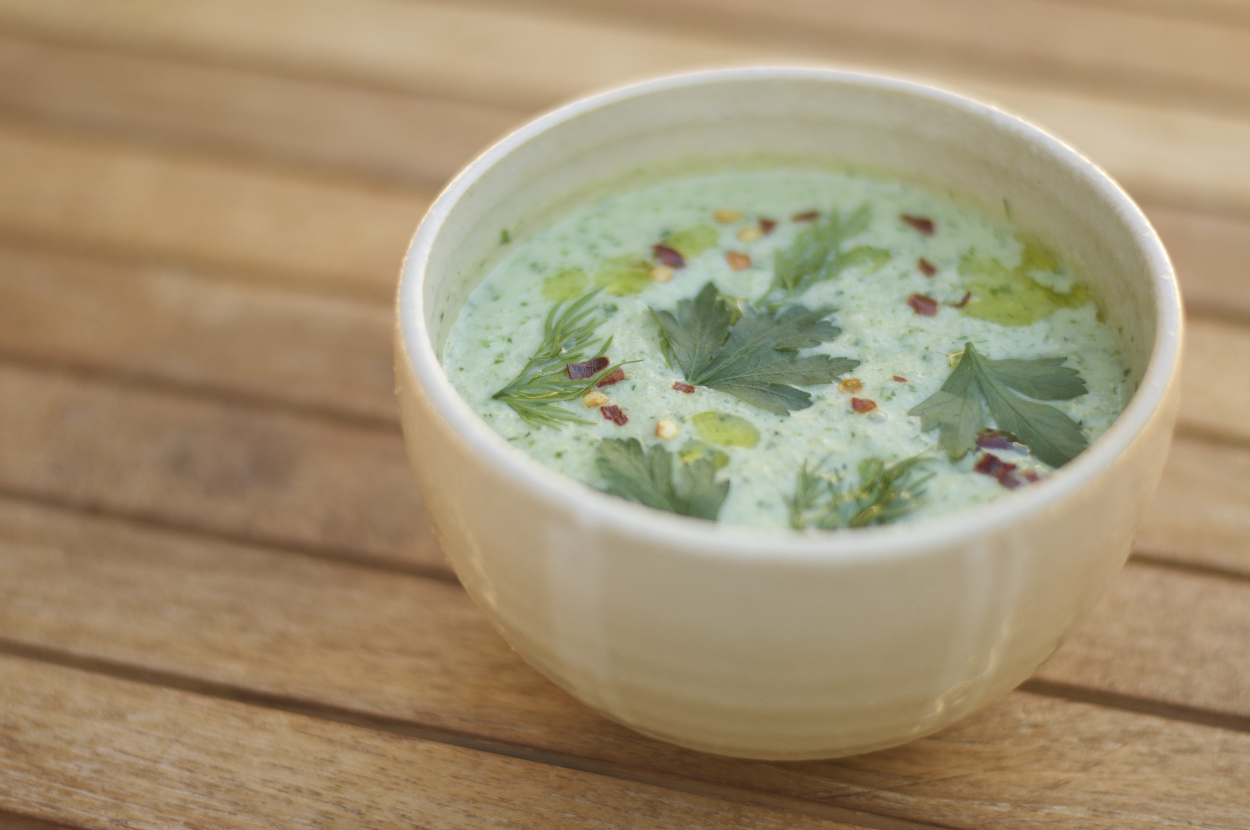 Chilled Cucumber Soup - A Pat & A Pinch